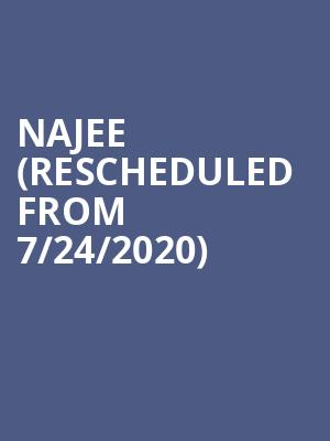 Najee (Rescheduled from 7/24/2020) at Yoshis