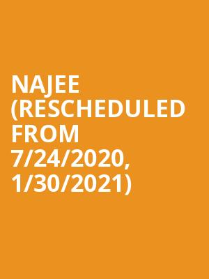 Najee (Rescheduled from 7/24/2020, 1/30/2021) at Yoshis